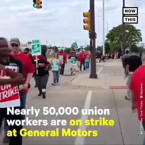 Nearly 50,000 GM union workers are on strike for the first time in more than a decade