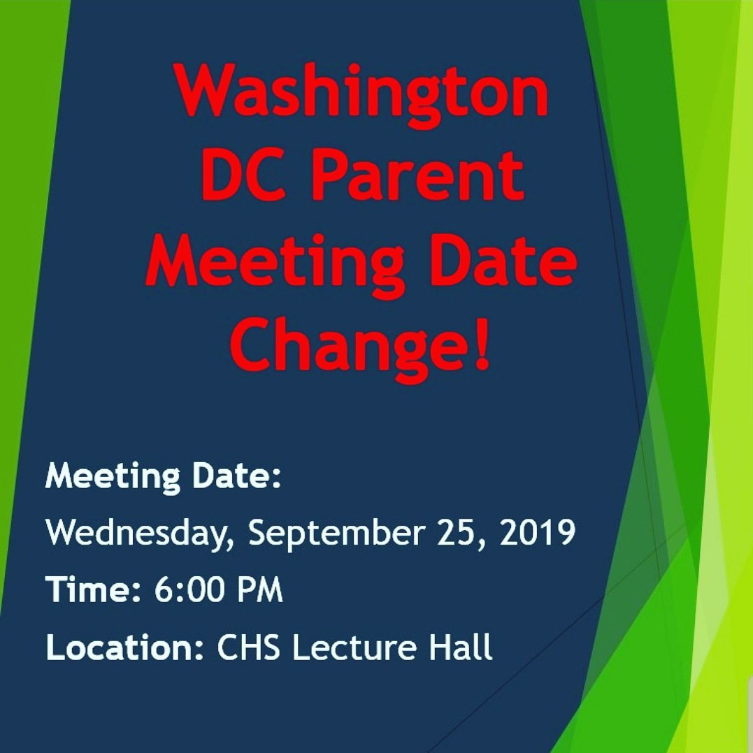 Reminder: the 8th grade Washington DC trip parent meeting has been moved to Wednesday September 25. Please share this with all CMS 8th grade parents. #bettertogether #cmsbulldogs #8thgradetrip #washingtondc<br>http://pic.twitter.com/fMjqyUCDeA