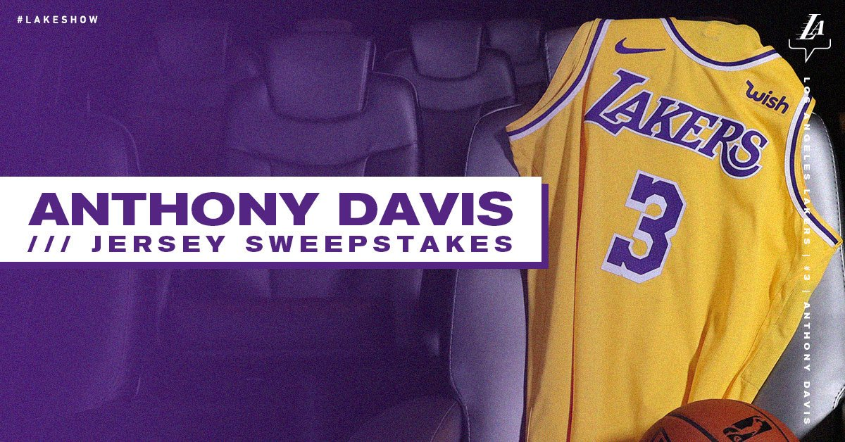 Enter for your chance to win an autographed Anthony Davis jersey 🖊️ (CA residents only)  Details: https://on.nba.com/345DITN
