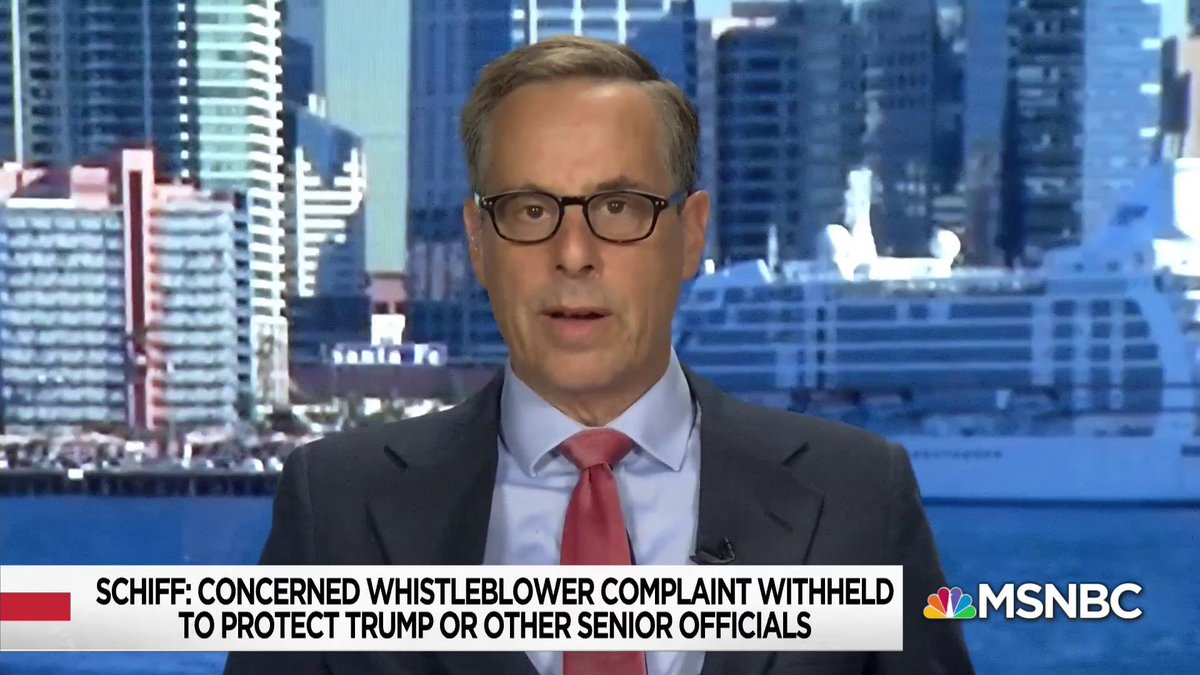 """They have as Schiff says, no basis. No legal basis for resisting."" - @harrylitman on the Director of National Intelligence withholding a whistle-blower complaint from Congress w/ @NicolleDWallace https://t.co/ayYQnB0Hu1"
