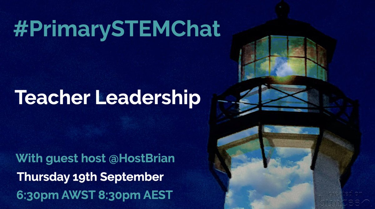 This week #PrimarySTEMChat is delving into #TeacherLeadership with @HostBrian - be sure to join us for this chat & share with your contacts! 😎 @brettelockyer @ImagineerSTEAM @MaiaBassett @becloftus @ZeinaChalich @chapmansar @cirich1 @McCannCat @RussellCairns1 @NickyConnor https://t.co/JpKakuly5c