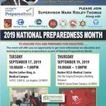 Image for the Tweet beginning: More FREE @LACounty Prepareathon events