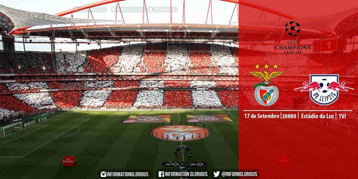 RT @InformGlorious2: 1ª jornada da Fase de Grupos da Liga dos Campeões: SL Benfica - RB Leipzig, hoje às 20h. https://t.co/iJW3K0aiaG