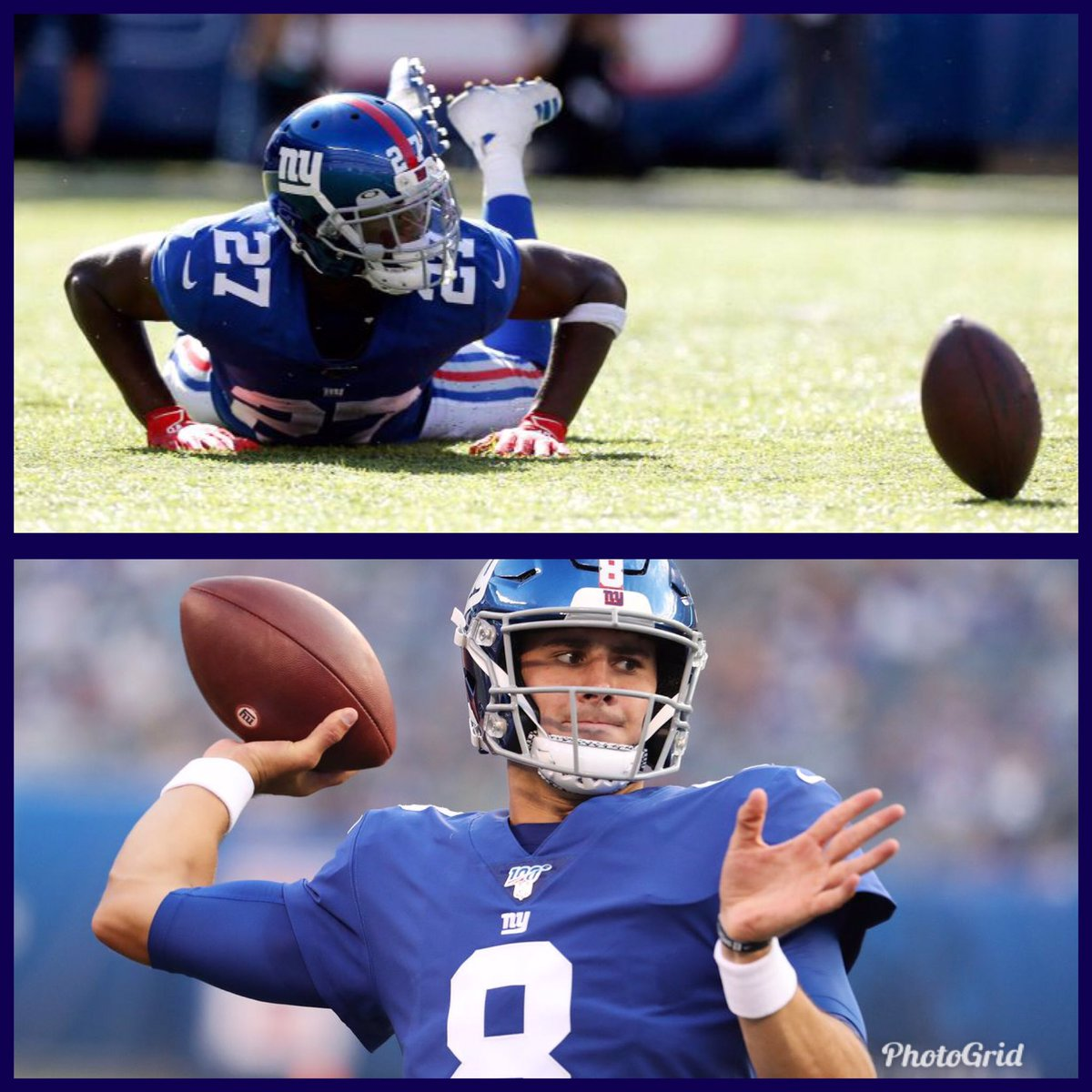 Daniel Jones finishes 17-21 147yds and 2 TD.   DeAndre Baker finishes with 2 tackles and 2 INTs. Enought to be nominated for #MEEROTW<br>http://pic.twitter.com/ZOiWgELRwH