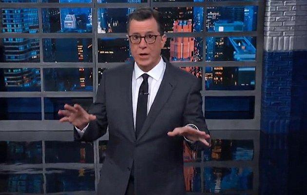 Stephen Colbert Attacks Trump's 'Locked And Loaded' Claim dlvr.it/RDFfnv