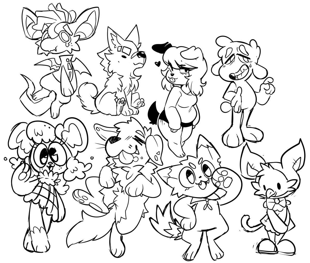First batch of oc doodles<br>http://pic.twitter.com/0Vz2yjrT54