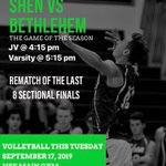 Image for the Tweet beginning: @ShenAthletics Tuesday night at SHEN