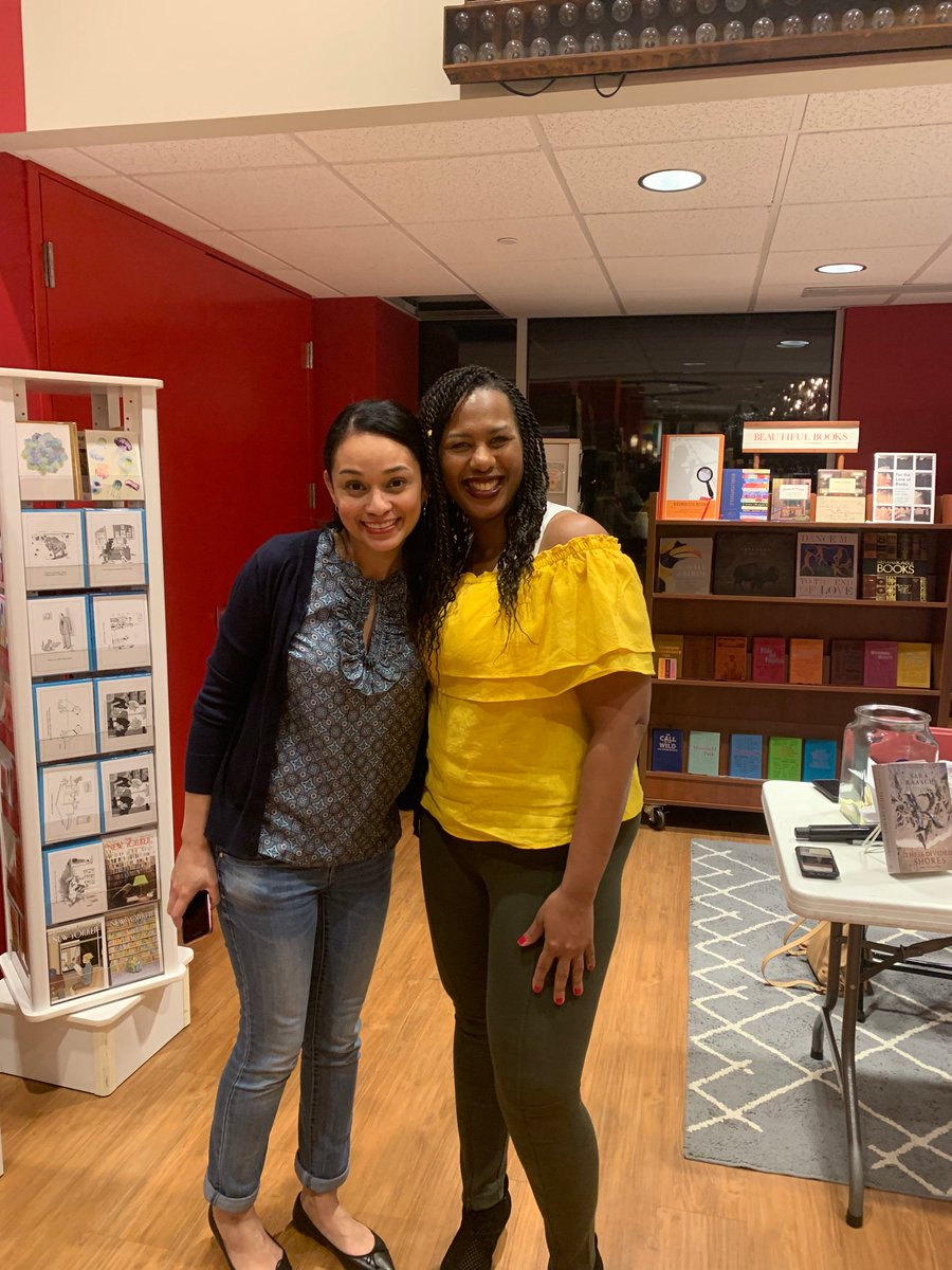 I met my wonderful agent sib @makiialucier in Raleigh while promoting #KingdomOfSouls and my only regret is that we didn't have more time to talk. Thanks for coming out, Makiia, and snapping some great pictures. ❤️