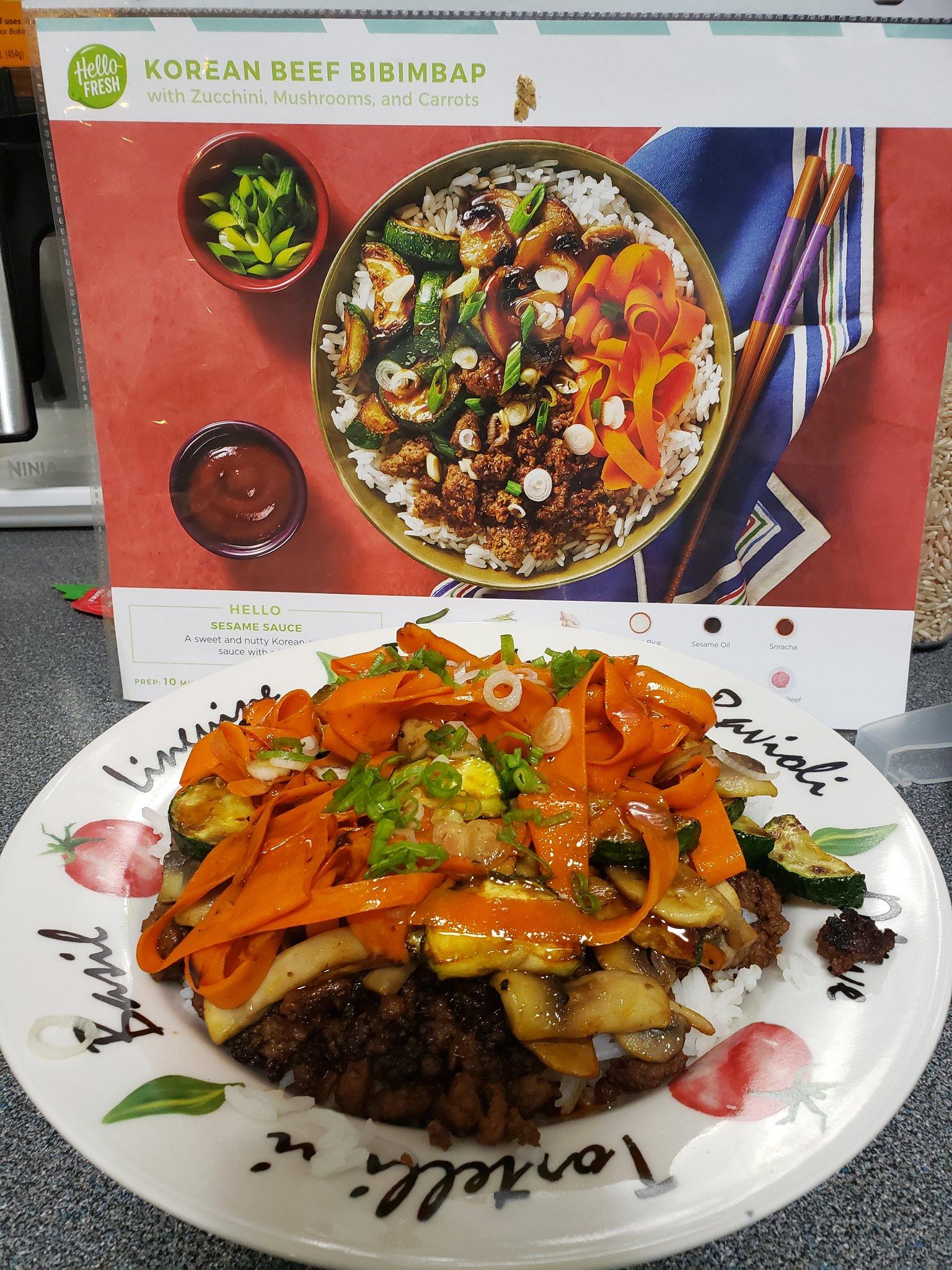 Jill Zimba On Twitter Tonight S Dinner Beef Bibimbap From