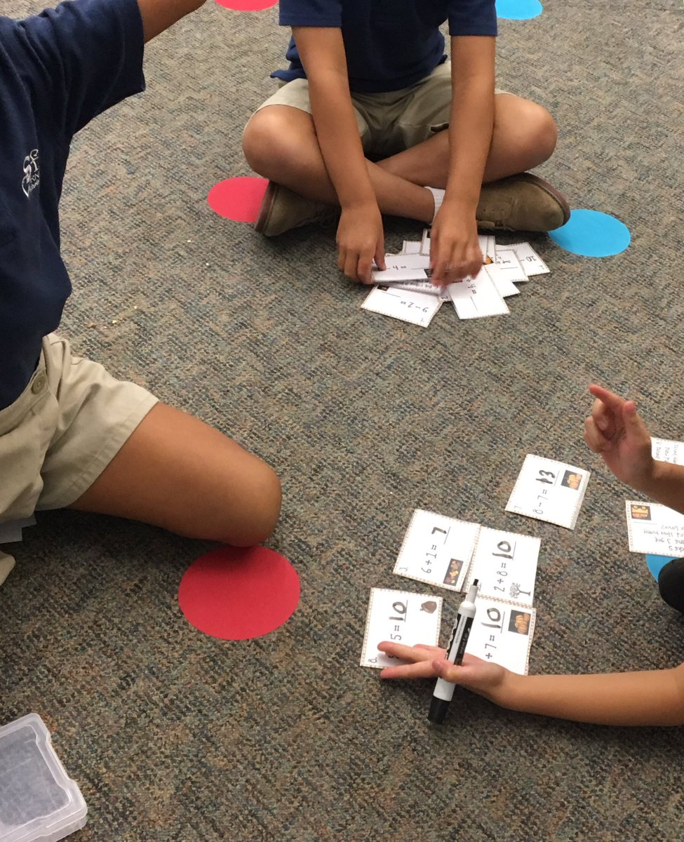 Busy day in 1st grade working on addition with small group math centers!  Best part is seeing their math skills & teamwork shine as they complete each center.  <br>http://pic.twitter.com/eGtjWyX5hY