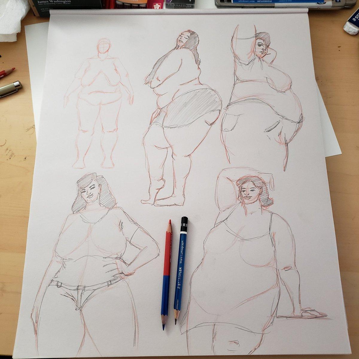 Some body positive sketches #bodypositivity #fatandfabulous #bbwart https://t.co/eDrco3kpgG