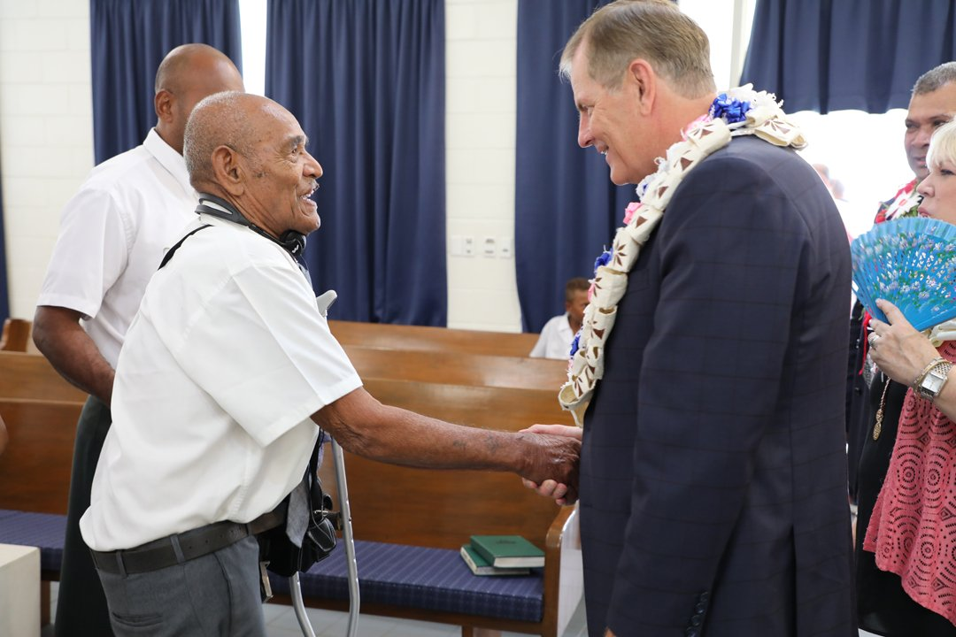 What a blessing for Fiji!  Elder Stevenson was in Fiji and members in Suva were blessed to hear from Bishop W. Christopher Waddell of the presiding Bishopric, Elder Carl B. Cook of the presidency of the seventy and Elder Kazuhiko Yamashita of the pacific area presidency. https://t.co/IoBkn7aw3m