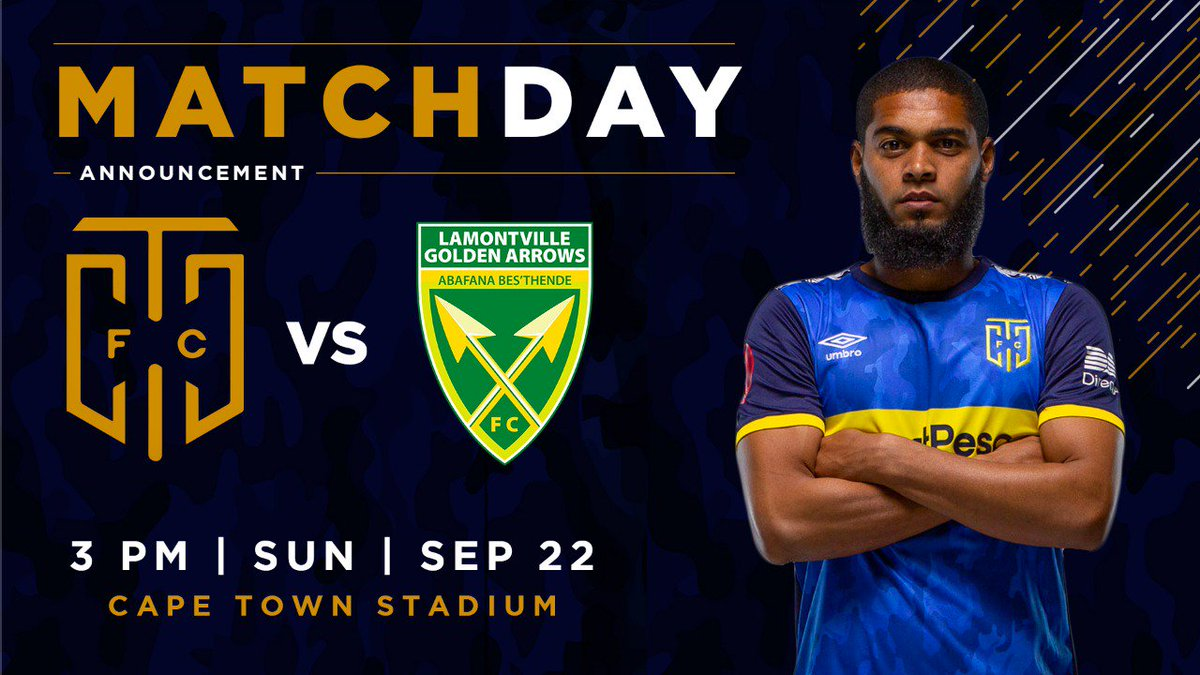 Boys are back in the Cape 👊 👊👊 We face Golden Arrows at the Cape Town Stadium with tickets at R20 💙 #iamCityFC