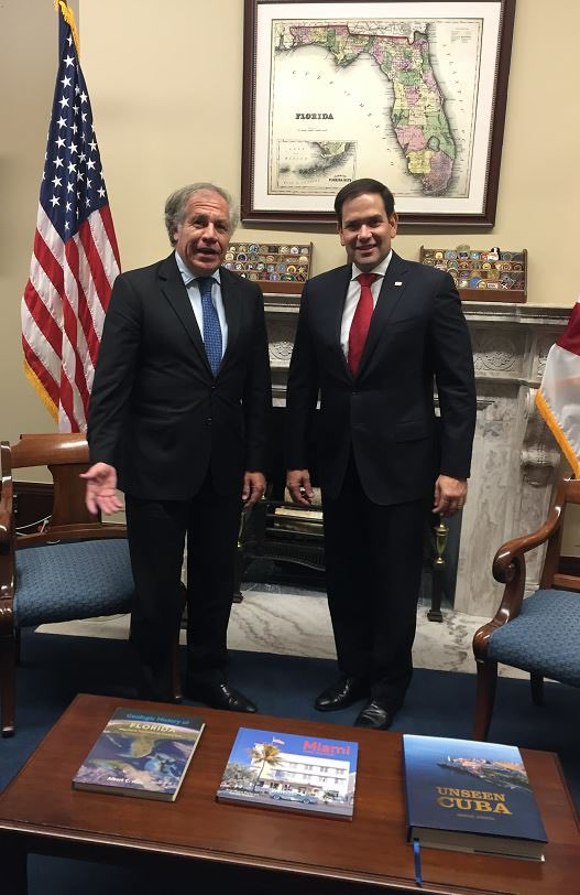 Great to talk today to Senator @marcorubio about the situation of democracy and Human Rights in our Hemisphere. We discussed the crisis in #Venezuela and recent developments in #Nicaragua, among other regional concerns <br>http://pic.twitter.com/87YmppsGeU