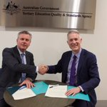 Image for the Tweet beginning: CAULLT and TEQSA sign MOU