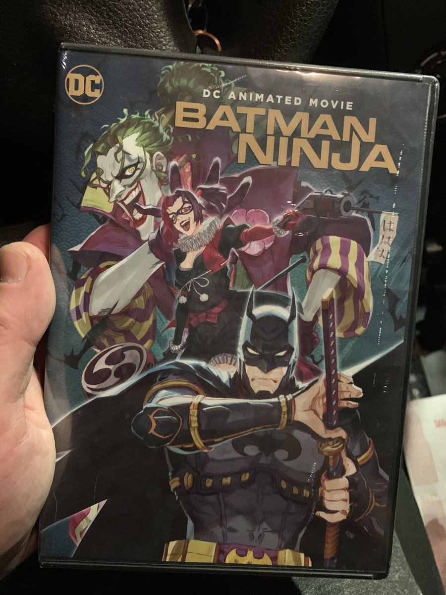 Ummm I bought a thing. Since it's ninjas it's considered anime right? #batmanNinja #batman #theJoker https://t.co/9IcbFF62ru
