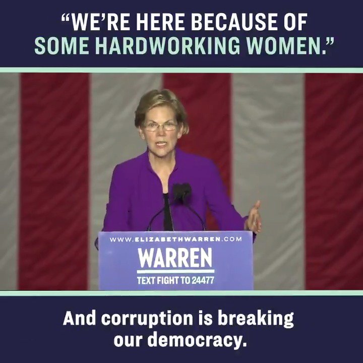 Women workers sounded the alarm about working conditions for years before the Triangle Shirtwaist Factory Fire, but corruption stopped reforms. Look at any big problem we face today—climate change, gun safety, health care—and you can see the same system at work. #WarrenNYC https://t.co/5QPje4KJRV