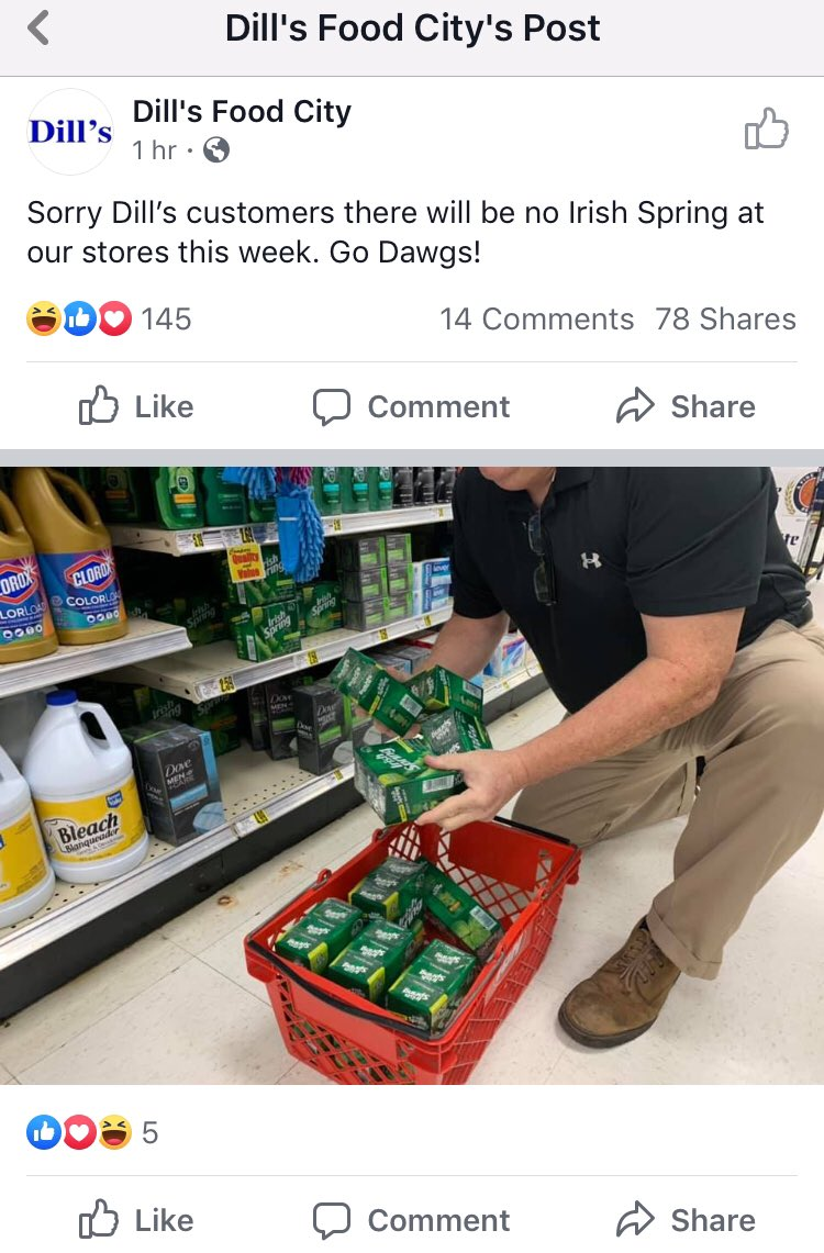 Georgia Grocery Store Removes Irish Spring Soap Before Notre Dame Game