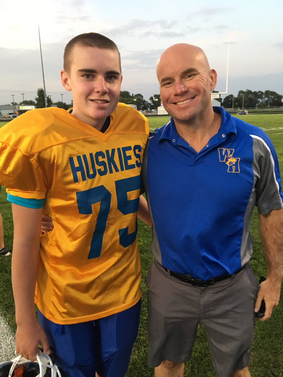 Special night — Jack's 1st Jr. high game. All made possible by the Good Lord. #TeamJackPray @BoPelini @RBrex34 @HuskerFBNation @WestHoltHuskies @BriBrihoffman @BostonChildrens<br>http://pic.twitter.com/XVPygdAAua