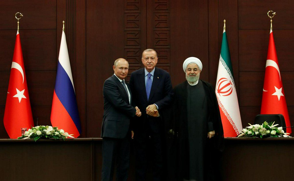 Turkey, Russia, Iran agree steps to ease tensions in Syria's Idlib despite lingering differences  https://www. reuters.com/article/us-syr ia-security-summit-putin-idUSKBN1W11R7?utm_campaign=trueAnthem%3A+Trending+Content&utm_content=5d804680d04a480001c18e60&utm_medium=trueAnthem&utm_source=twitter  … <br>http://pic.twitter.com/Srys1MCfpR