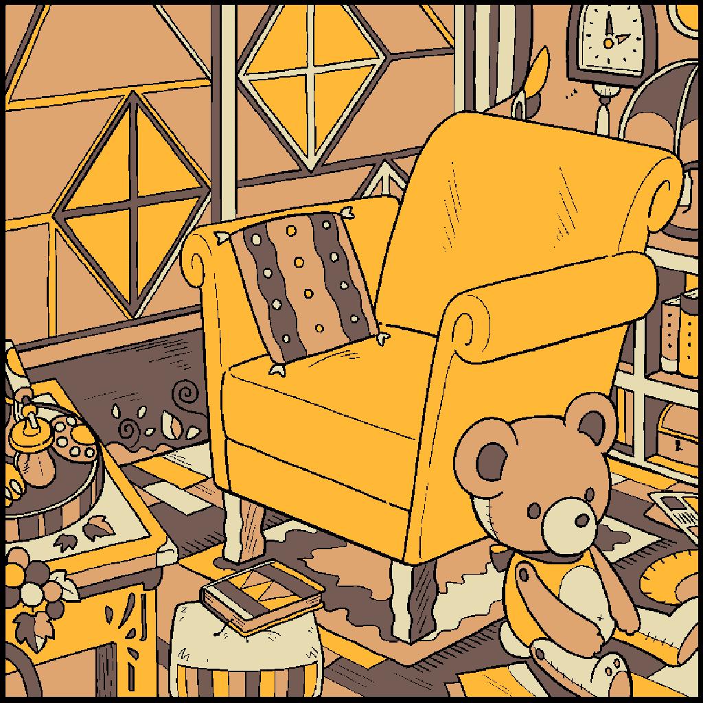 No.167 「アンティークルーム」#塗り絵パズル