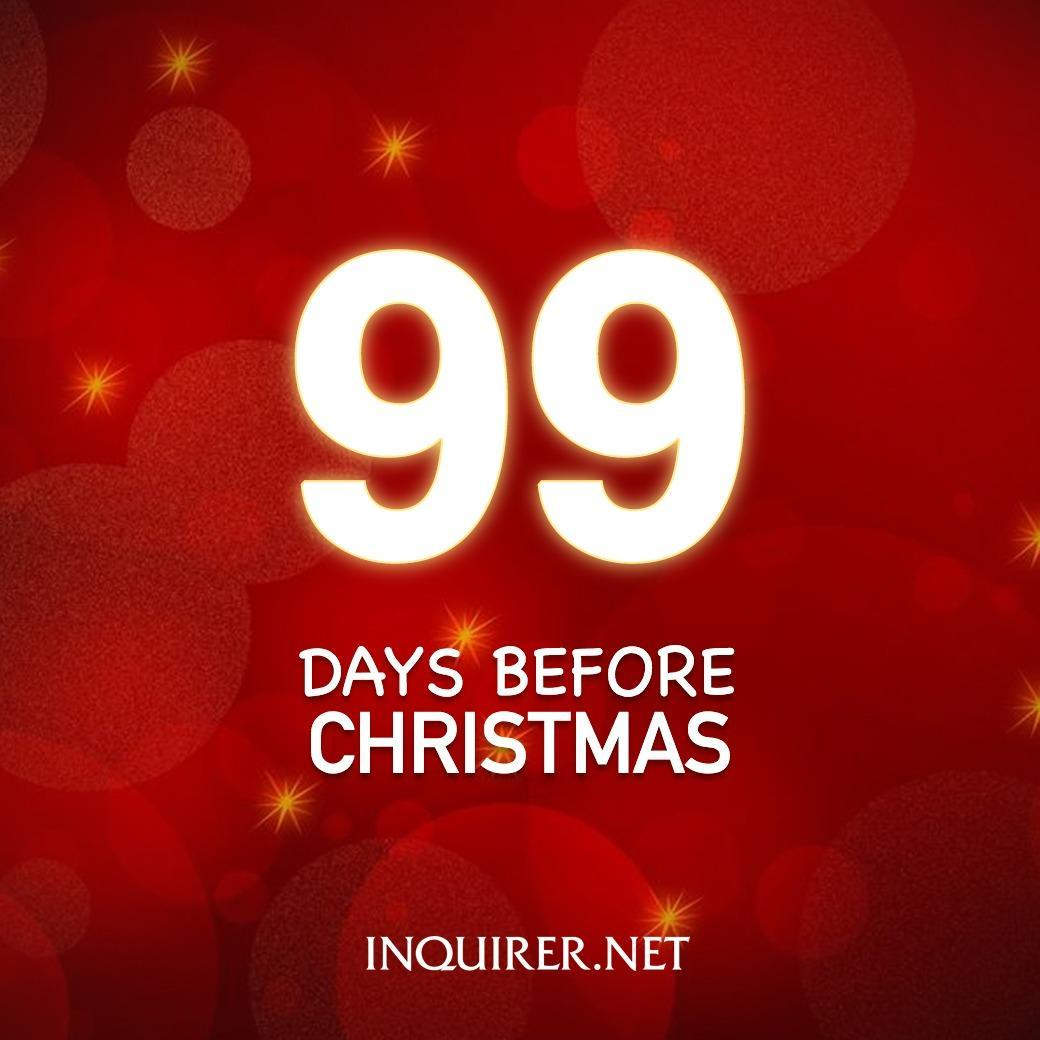 Until Christmas 99 Days Till Christmas.Christmas Wrapped Days Christmas Inquirer Scoopnest