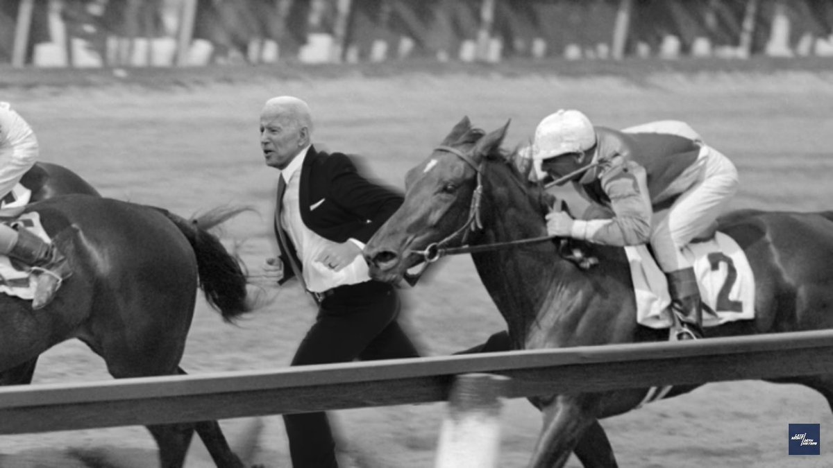it also includes this wonderful REAL photo of Joe Biden racing Seabiscuit in 1938