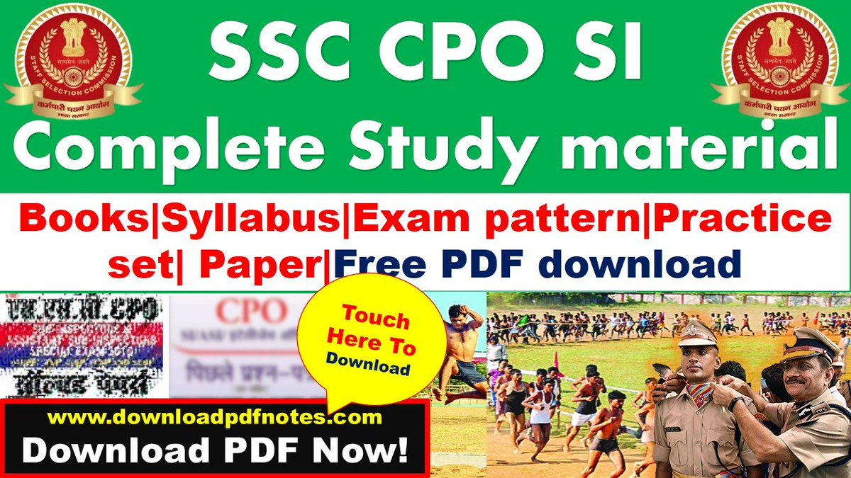 ssc cpo study material free pdf download