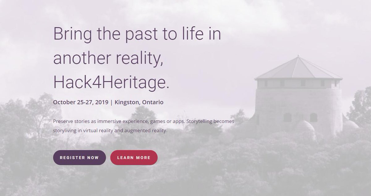 #Hack4Heritage ⚡️ bring the past to life in another reality.   Join the #MixedReality Hackathon, Oct 25-27 in #Kingston, Ontario. You don't need to be a dev expert! @hack4heritage Sign-up today, limited spaces! 😎👉http://bit.ly/2Kvt7K8