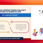 Image for the Tweet beginning: 6 BIGGEST CONTENT TRENDS YOU