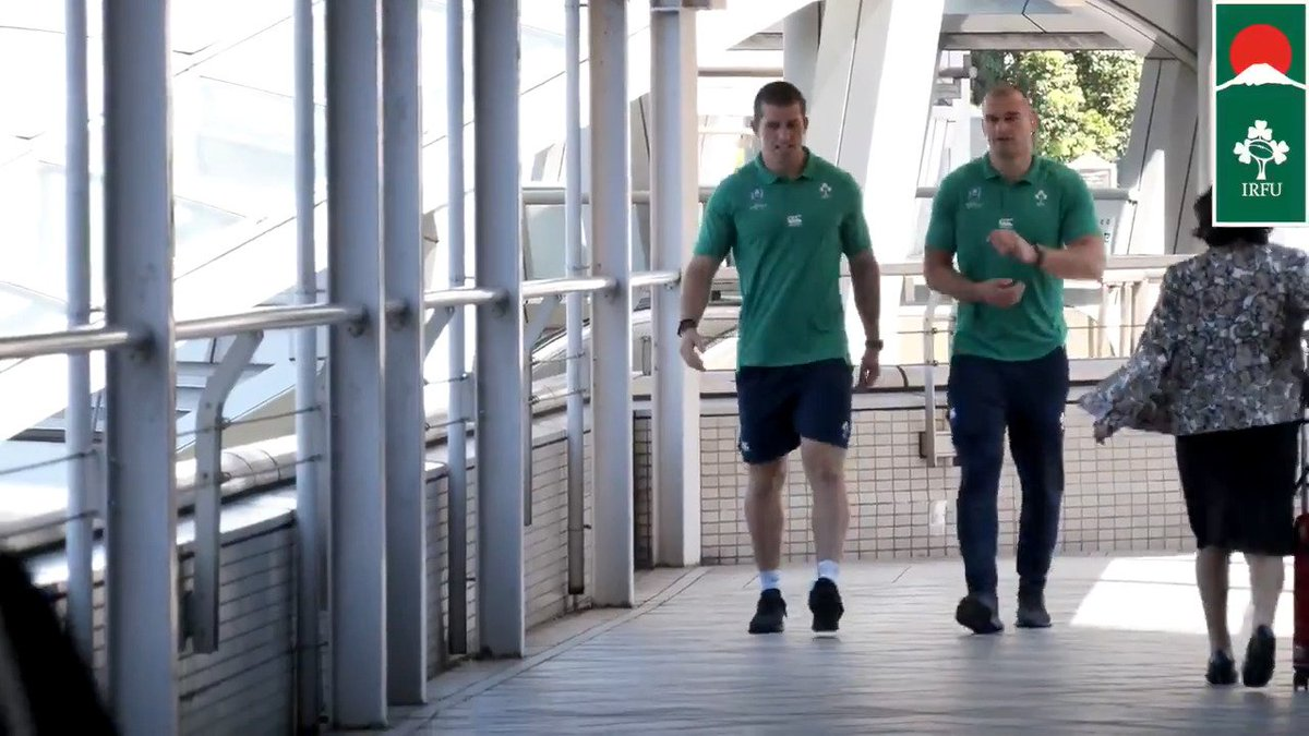 #RWC2019 Oh Brother! @RhysRuddock90 and brother Ciaran are in Japan together and not for the first time. Great piece with the Ruddocks from todays media session. #TeamOfUs #ShoulderToShoulder