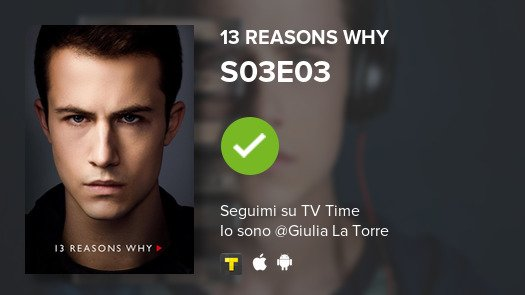 I've just watched episode S03E03 of 13 Reasons Why! #13ReasonsWhy  #tvtime https://t.co/Mp18PZr8Fh https://t.co/WzciYNciDM