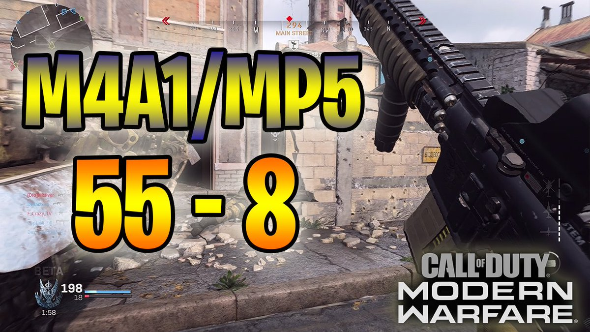 MW - M4A1/MP5 Killer Combo 55 - 8 Gameplay (1080p)Full Video Here: https://youtu.be/s3n4d-9v-OI @ShoutGamers @SGH_RTs @WaveformShouts @FlyRts @Quickest_Rts #cod #mw4 #games #Mwbetacodes #Xbox #PS4share #ps4 #CallOfDuty #modernwarfare #codblackout #MW #Modernwarefarebeta #MWBeta