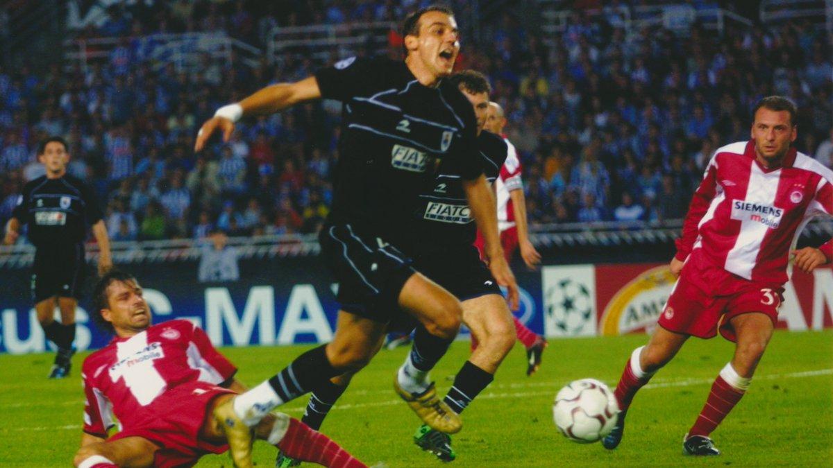 🌟 Noche de estrellas.🔙 ¡El 17 de septiembre de 2003 vencimos por 1-0 al Olympiakos en la ....