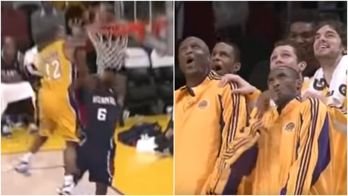 【影片】失誤鏡頭也能成經典!詹皇的極限跳躍因此被測出來,他這個封蓋嚇壞Kobe!