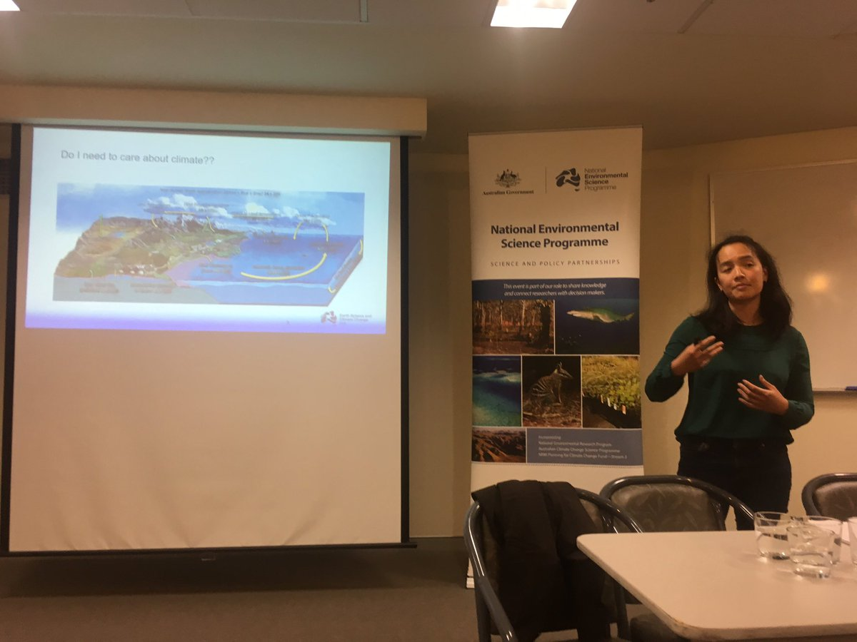 Great to have @nespclimate speaker Michelle Ho join us for our #freshwater showcase with @envirogov @EnvironPlan @MD_Basin_Auth & many more