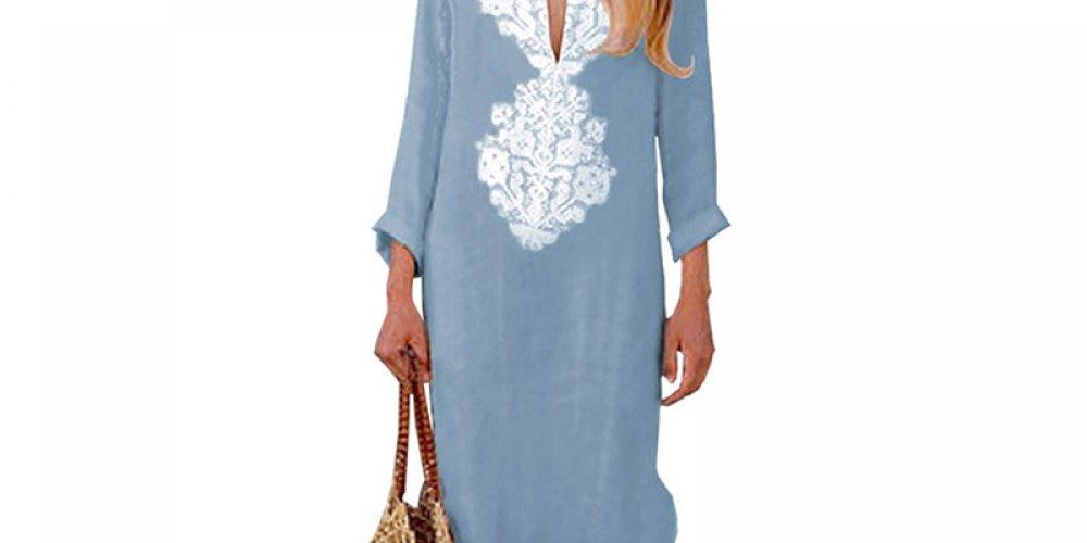 #streetstyle #outfit Women's Boho Maxi Long Dress V-neck https://t.co/Hl2bdRwHMk