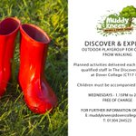 Do you and your little one have plans for tomorrow afternoon? If not, come and join in the fun (and get muddy) at our Discover and Explore outdoor playgroup held every Wednesday afternoon in the Discovery Garden at Dover College  #playgroup #forestschool #Dover