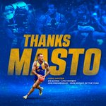 Image for the Tweet beginning: Thanks for everything Masto! 💙💛  Premiership