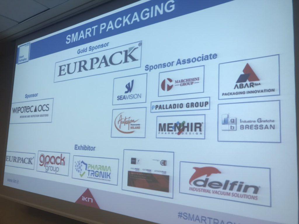 I nostri partner vi aspettano a #smartpackaging:  #Eurpack @Wipotec #delfin #gpack group #PharmaTronik #GK_solution @Igbressan #menhir #palladioGroup #Seavision @abar @MarchesiniGroup #Autajon Packaging @IKN_Italy https://t.co/PYBjWXXQVK