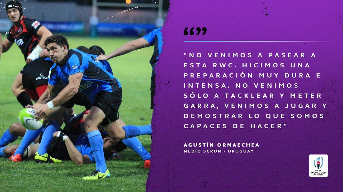 Agustín Ormaechea tiene muy en claro el papel de @RugbyUruguay en esta Rugby World Cup! #RWC2019 @coloorma