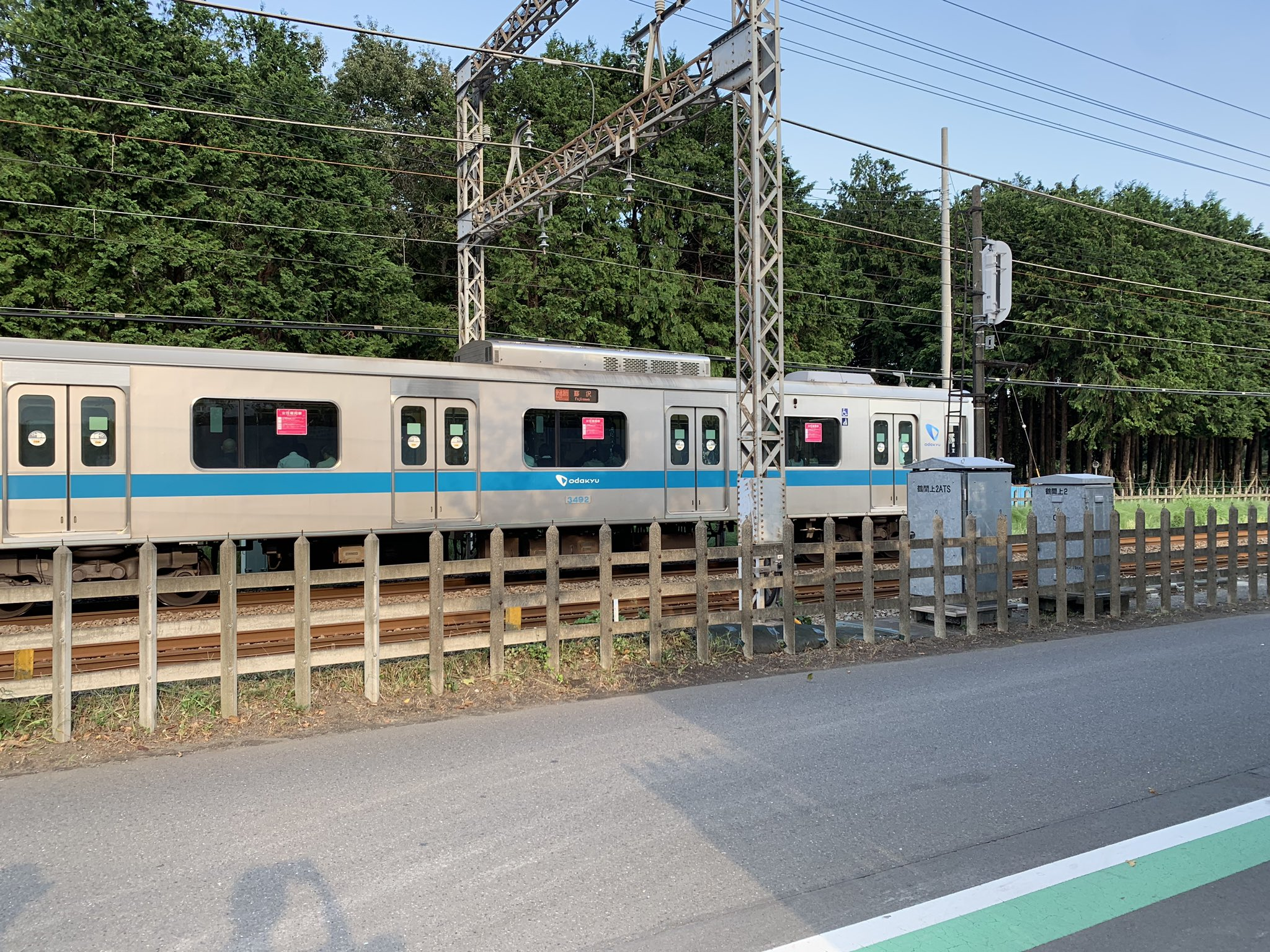 小田急江ノ島線の鶴間駅~大和駅間で人身事故が起きた現場の画像