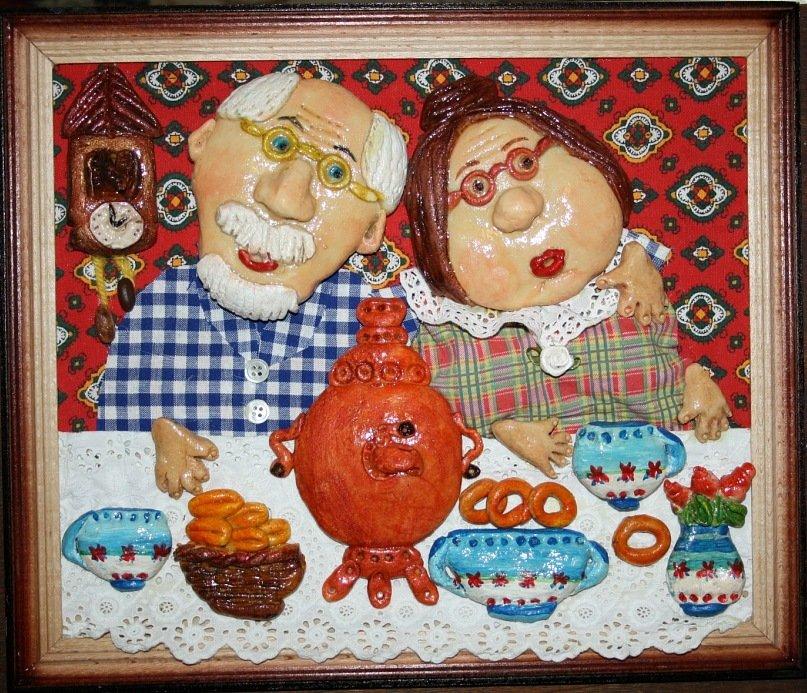 Открытка бабушка рядом с дедушкой