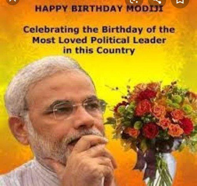 Happy birthday to prime minister Narendra Modi