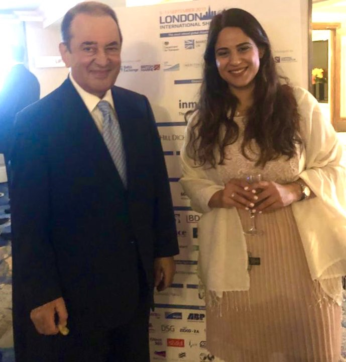 Dr Kypros Chrysostomides & Eri Kozakou from our firm at last week's #LISW2019 Gala Dinner in #London. Thank you @LISWOfficial for a fantastic event! @KChrysostomides #maritimelaw #shipping #law #Cyprus
