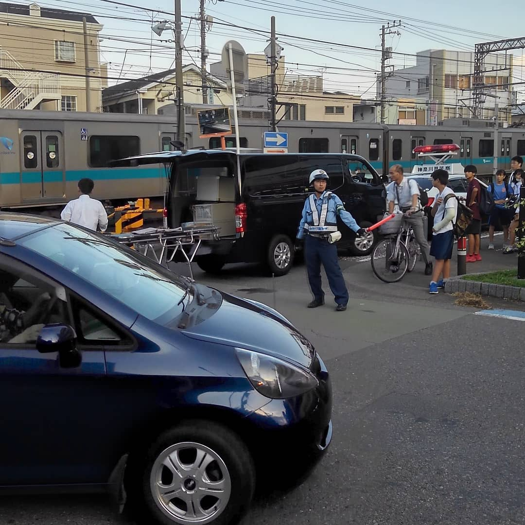 小田急江ノ島線の大和駅付近で人身事故が起きた現場の画像