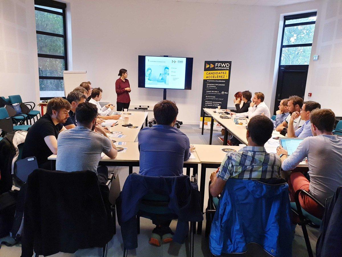 Après #Rouen la semaine dernière, réunion d'information à #Caen ce matin sur le programme d'#accéleration @FFWDNormandie par l'équipe @ADNormandie dans…