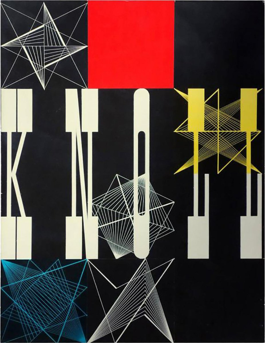 Herbert Matter Collage Mock-Up for the Knoll, 1948 Catalog