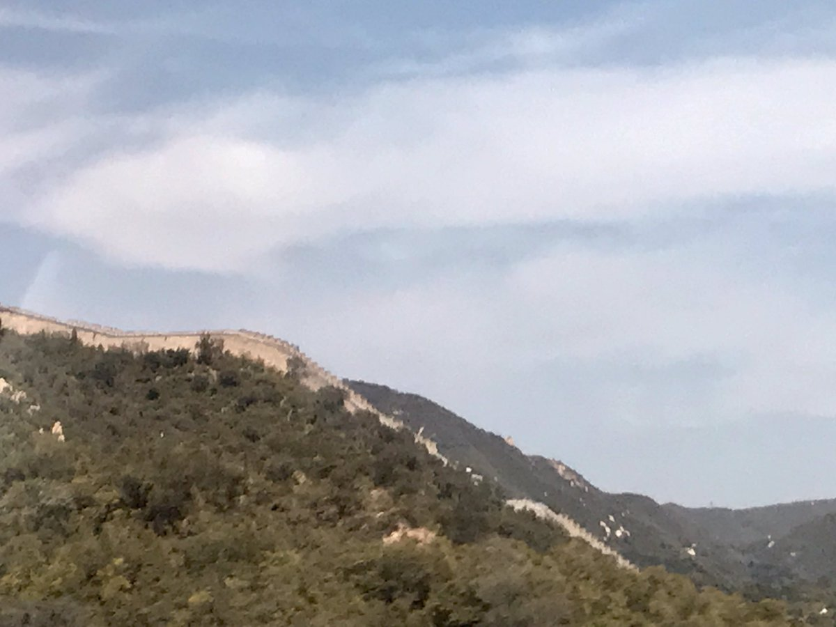 Beautiful view on the Great Wall on my way to my next meeting to discuss Artificial intelligence #AI applications in Agriculture, at the #beijingexpo 2019. When thousand years of history meet the future...