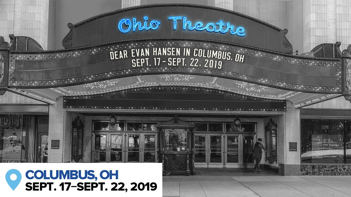 Oh hi, Ohio. The #DEHtour, and our brand-new leading man, have arrived in the Buckeye State for a week at @CAPAColumbus. #YouWillBeFound